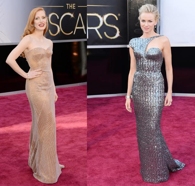 Naomi Watts Jessica Chapstain Oscar 2013