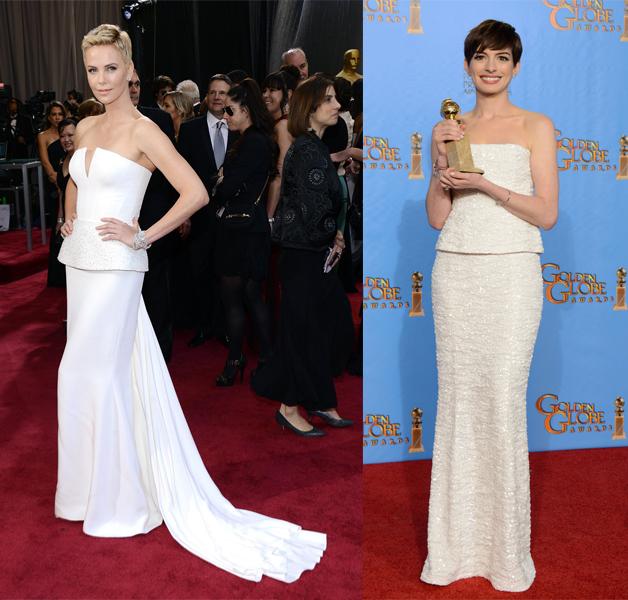 Charlize Theron Anne Hathaway Oscar 2013
