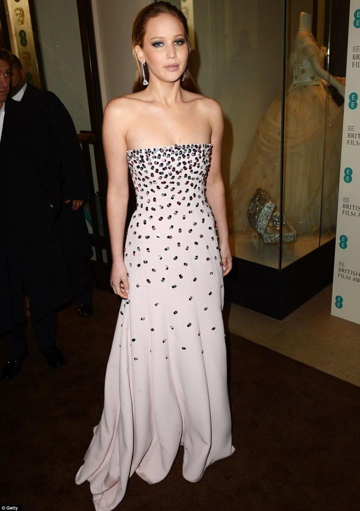 Jennifer Lawrence Bafta 2013