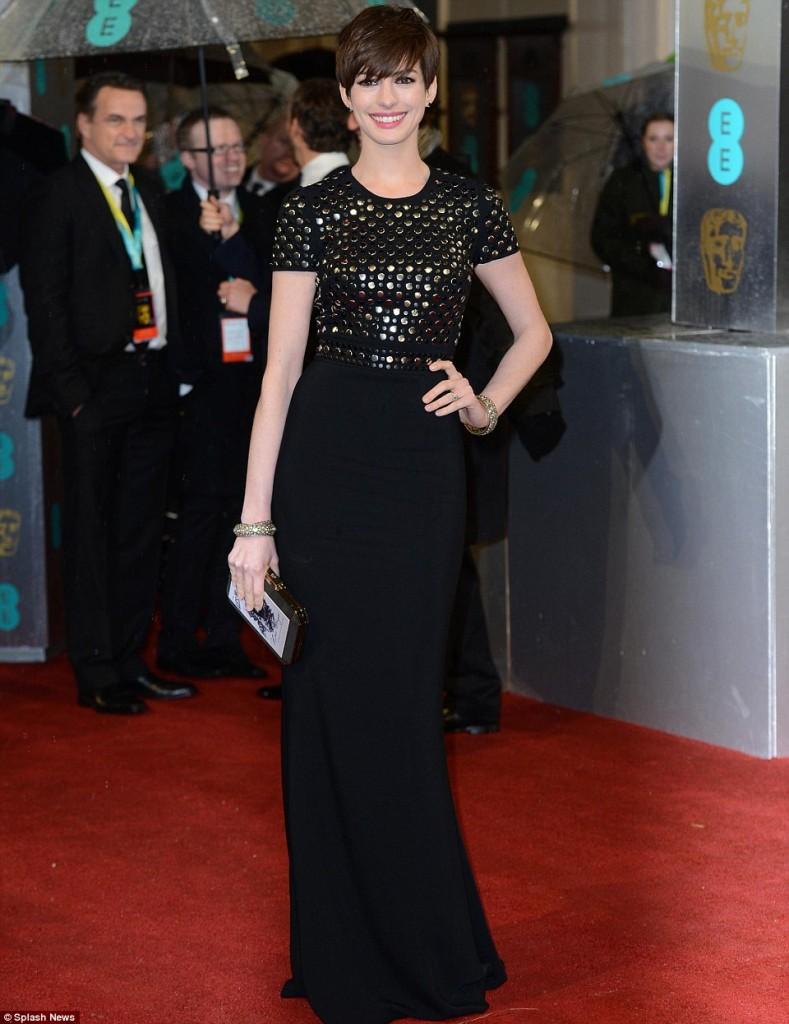 Anne Hathaway Bafta 2013
