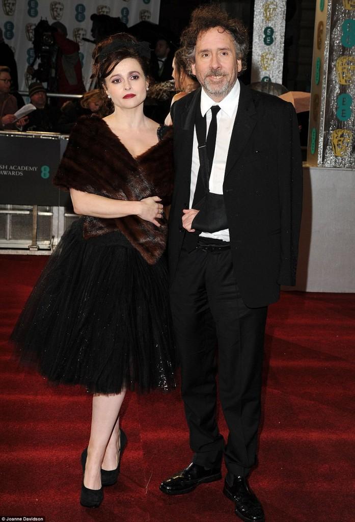 Helena Bonham Carter y su marido Tim Burton Bafta 2013