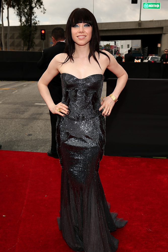 Carly Rae Jepsen Roberto Cavalli Grammy Awards 2013