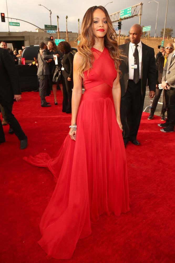 Rihanna Alaia Grammy Awards 2013
