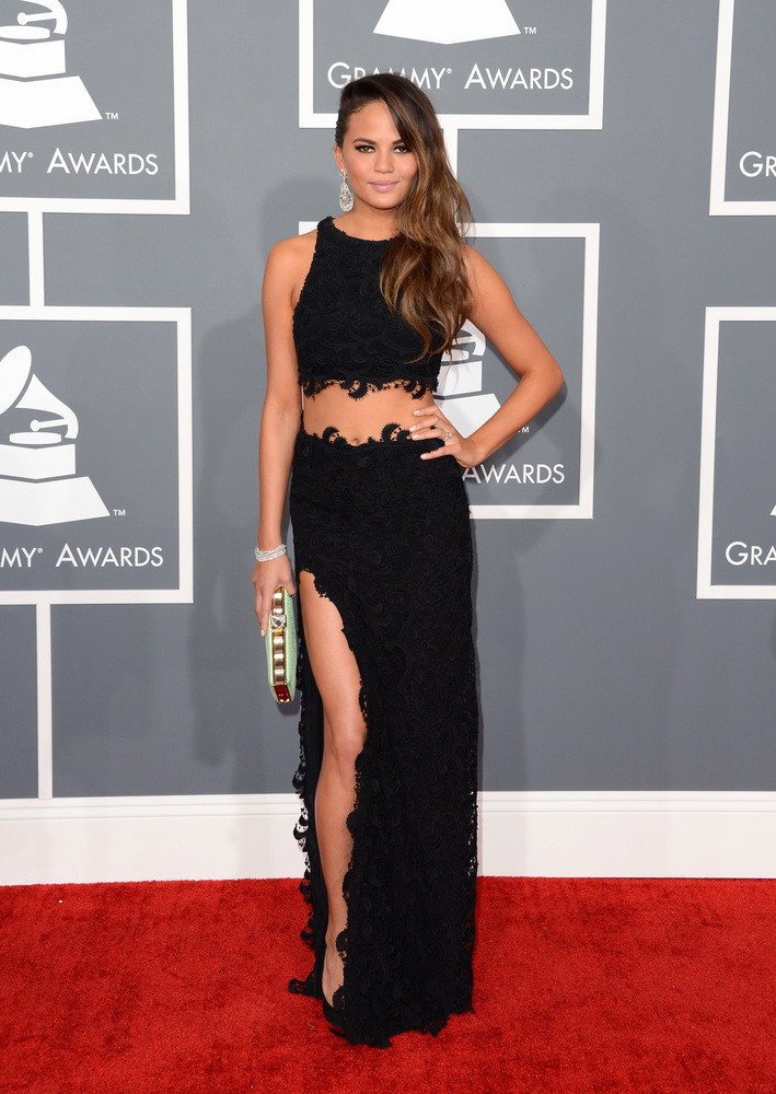 Chrissy Teigen Joy Cioci Grammy Awwards 2013
