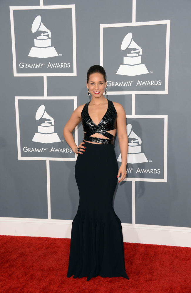 Alicia Keys Azzedine Alaia Grammy Awards 2013