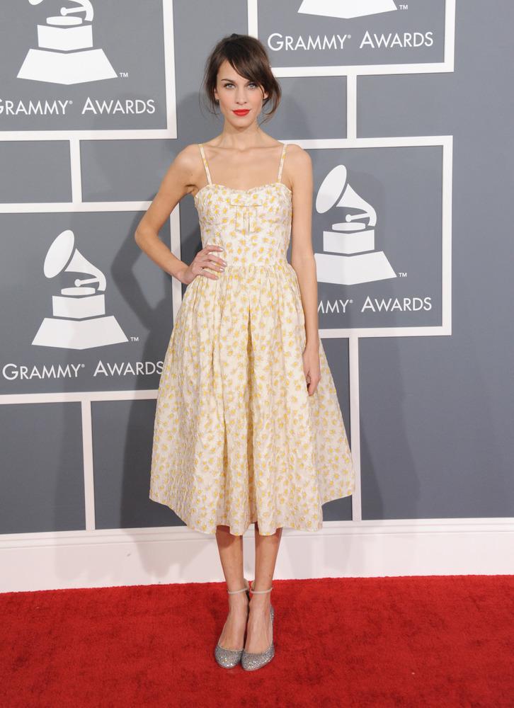 Alexa Chung Valentino Grammy Awards 2013