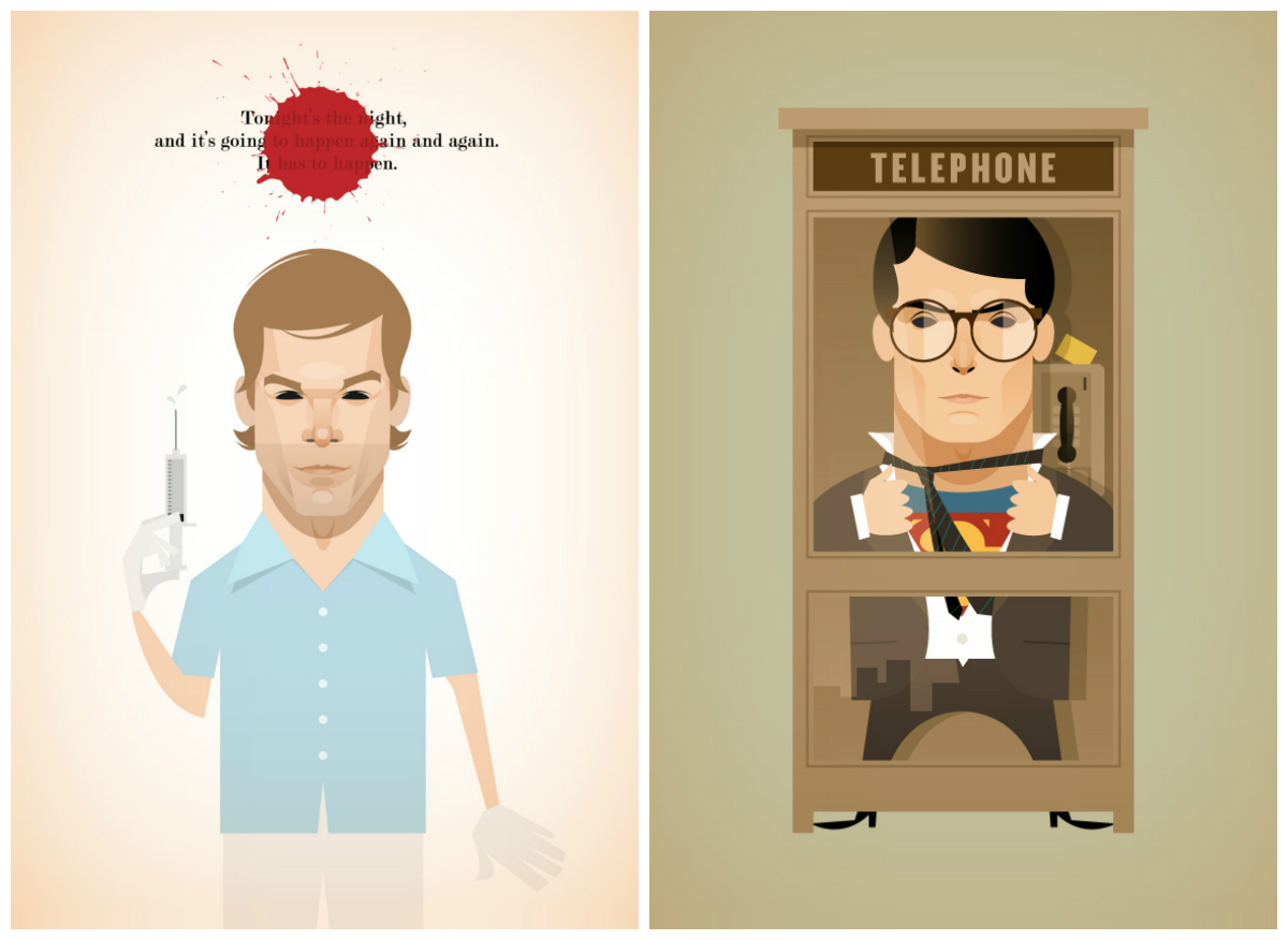Dexter y Superman by Stanley Chow