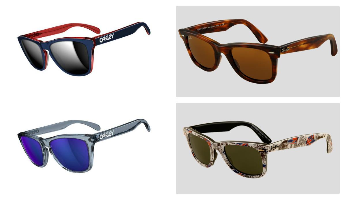 Gafas Oakley y Rayban Wayfarer