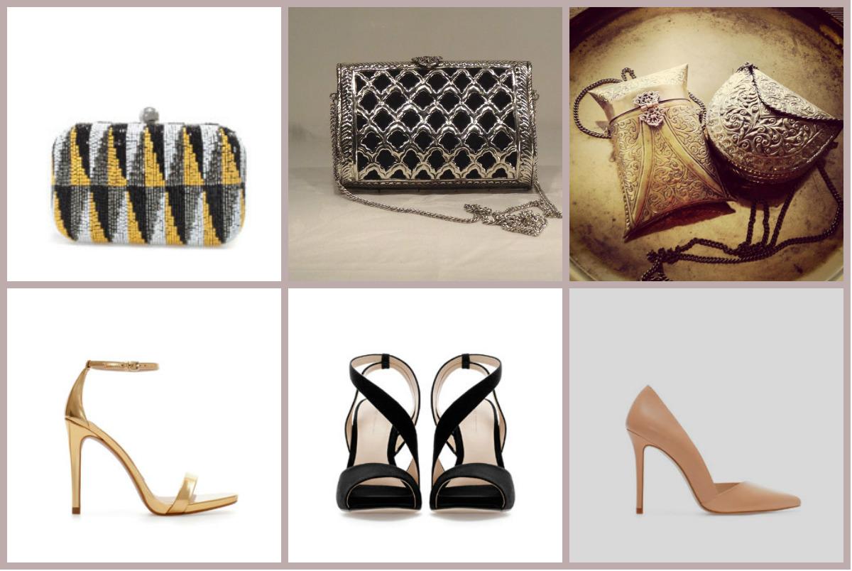 Zapatos y bolsos de boda
