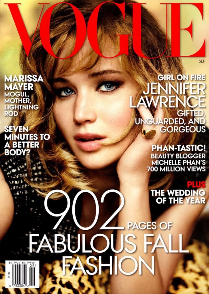 Jennifer Lawrence Septiembre 2013 Vogue US