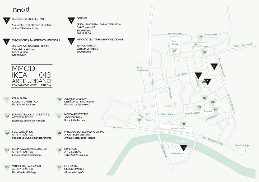 Mmod 2013 mapa Arte Urbano