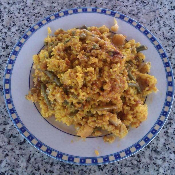 Arroz y verduras con bacalao #typicalMurciano