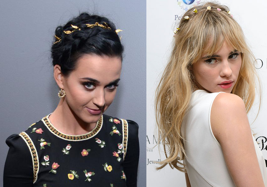 Katy Perry Suki Waterhouse flor pelo