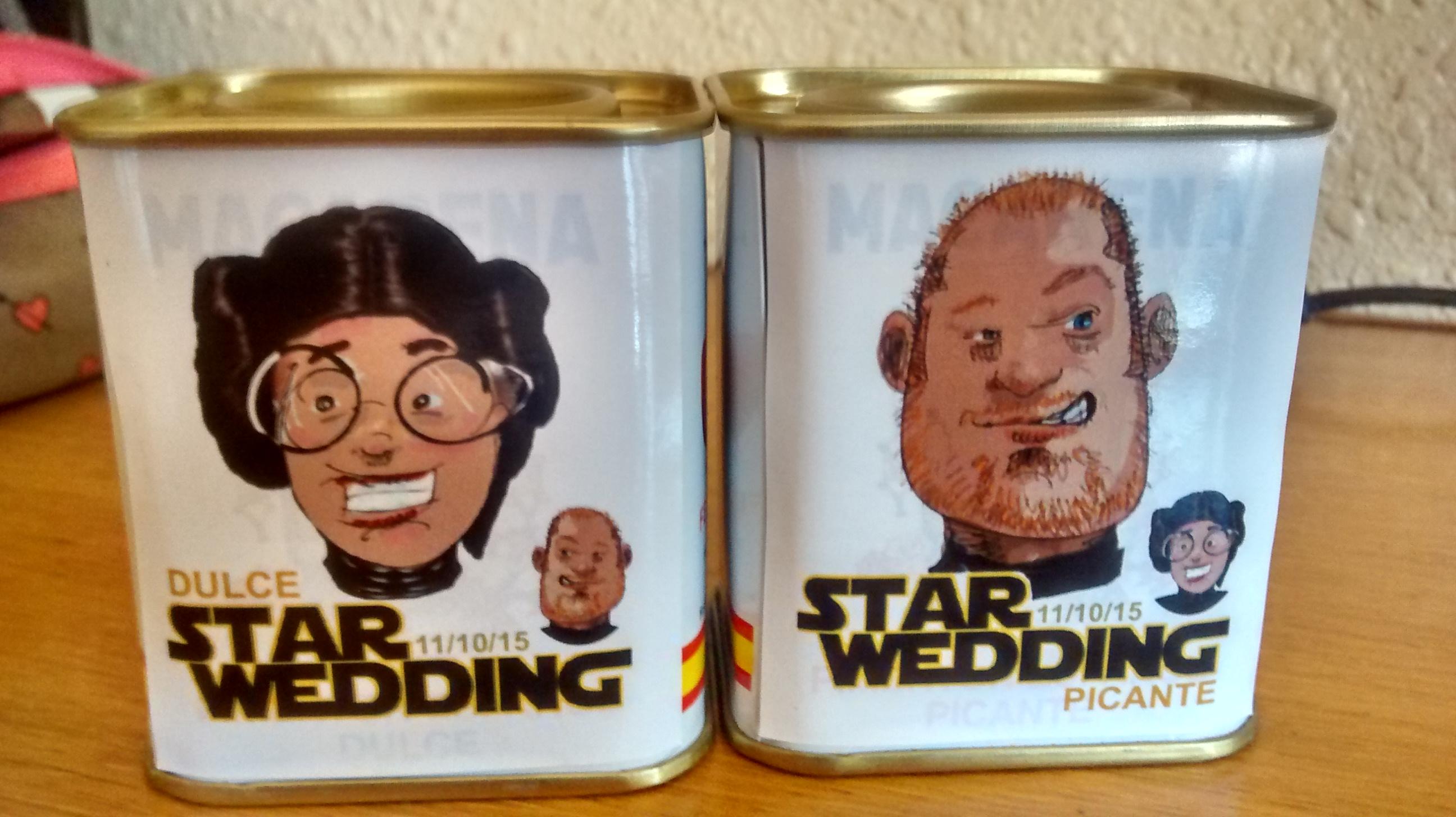 Recordatorios de la Star Wedding, pimentón dulce y picante.
